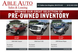 Able Auto Sales Leasing Kingston