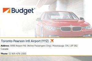 Budget Car Rental Pearson Airport