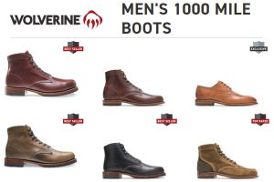 Wolverine Mens 1000 Mile Boots