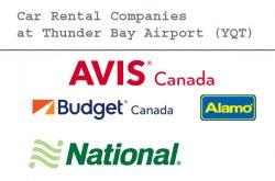 Car Rental Companies at Thunder Bay Airport (YQT)
