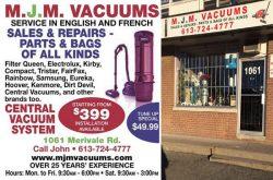 MJM Vacuums - Merivale Road, Ottawa