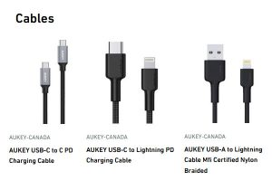 Aukey Canada USB Cables