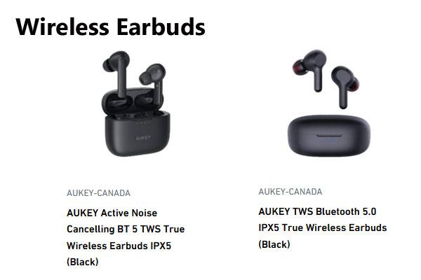Aukey Canada Wireless Earbuds