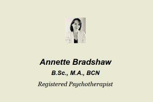 Annette Bradshaw Psychotherapist Toronto